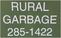 Rural Garbage Service
